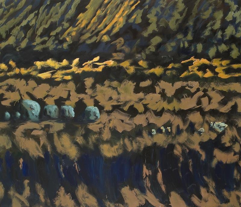 Guy de Malherbe - Peinture : Chaos de Plage, 120 x 140 cm, huile sur toile, 2012. Photo Alberto Ricci. Copyright Guy de Malherbe. Courtesy Galerie Vieille du Temple.