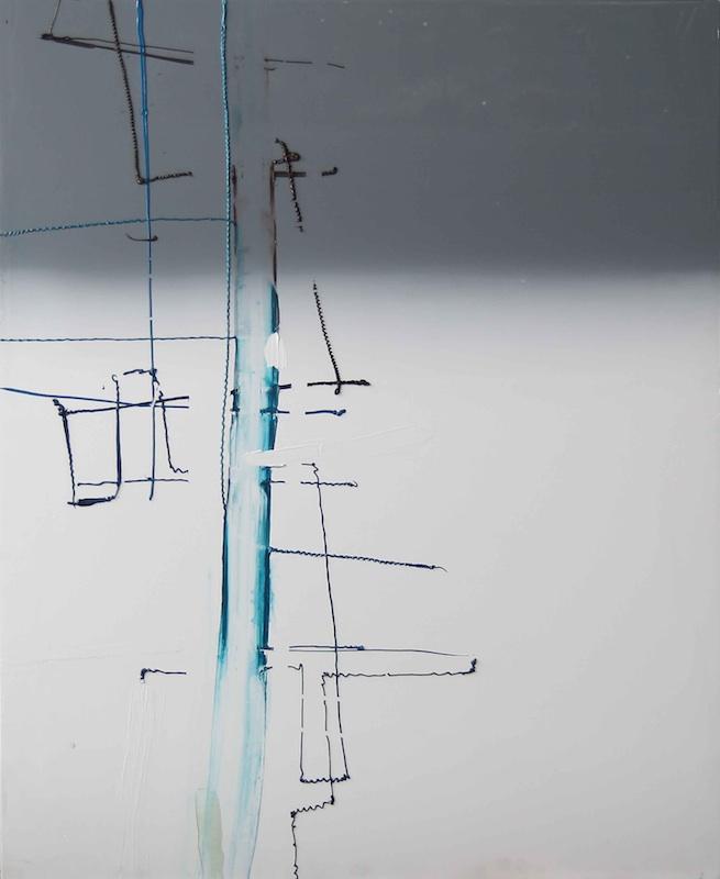 Choses incorporelles : Entre Deux, ET 0708, 2008, acrylique sur toile, 110 x 90 x 3 cm. Courtesy galerie Jean Brolly.