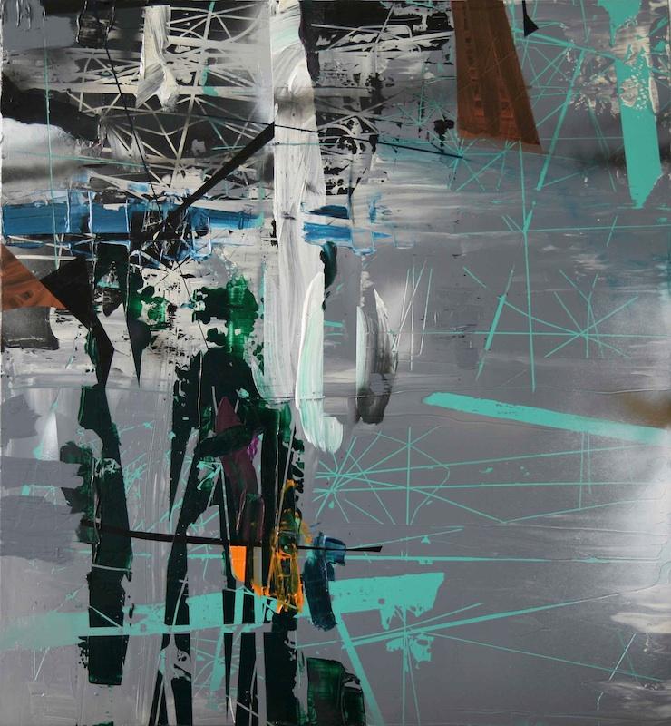 Choses incorporelles : Pour Voir, PV 2809, 2009, acrylique sur PMMA, 108 x 100 x 5,5 cm. Courtesy galerie Jean Brolly.