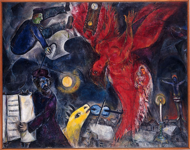 Chagall et la Bible : La Chute de l'ange, 1923-1934-1947  © ADAGP, Paris 2011 – Chagall ®
