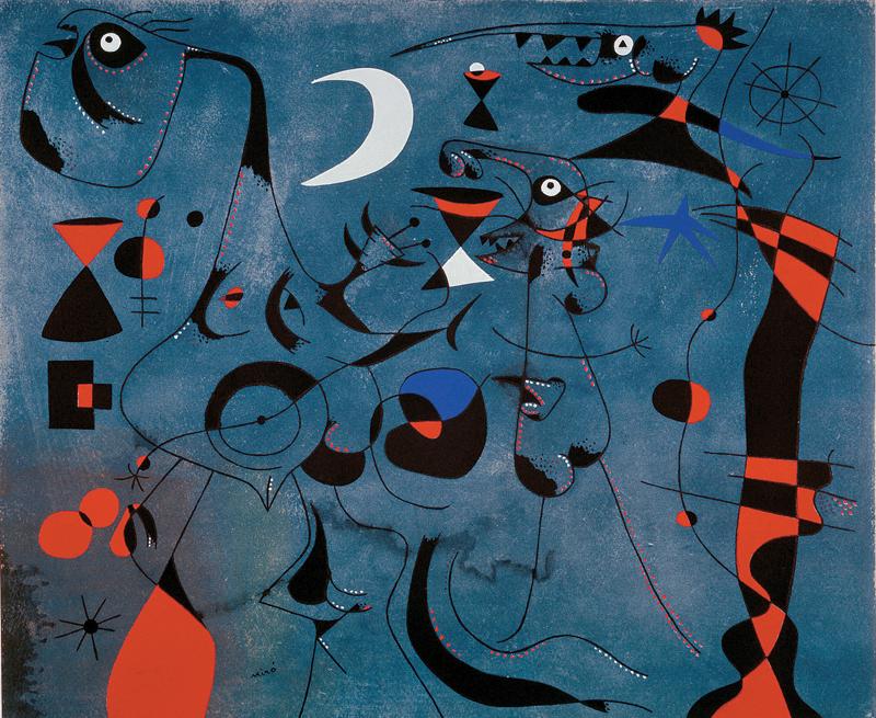 Joan Miró, peintre poète : Joan Miró, André Breton, Constellations, 1959, lithographie. © Successió Miró 2011/SABAM Belgium 2011