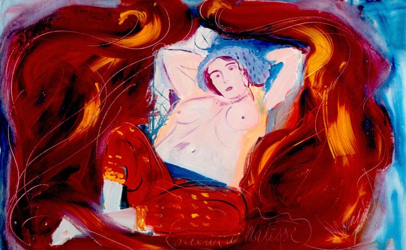 Corps à corps : Jean Messagier_Odeur de Matisse, 1984 _ Jacques Quecq d_Henriprêt _ ADAGP, Paris 2010
