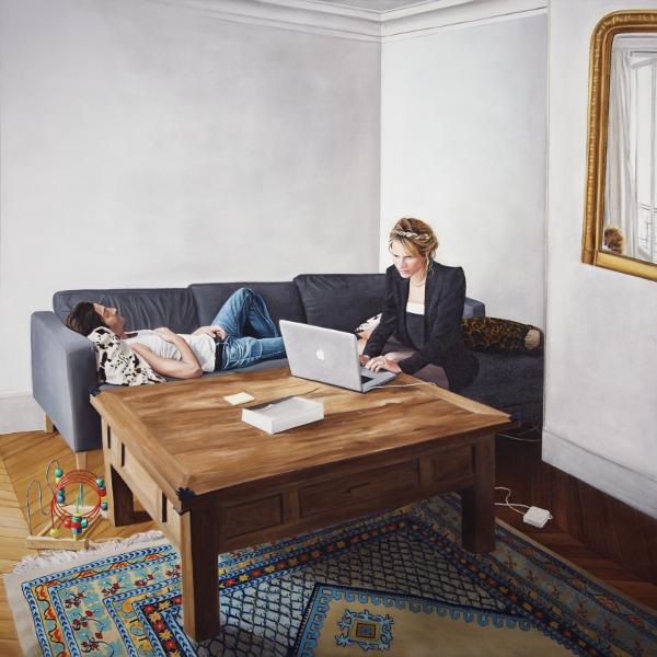 Thomas Lévy-Lasne – hic et nunc : Thomas Lévy-Lasne. Couple n°2. 2011, huile sur toile, 200x200 cm. Courtesy de l'artiste.
