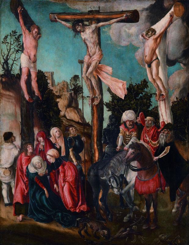 Cranach et son temps : Lucas Cranach l'Ancien Crucifixion vers 1500 huile sur panneau de tilleul Vienne, Kunsthistorisches Museum © Vienne, Kunsthistorisches Museum