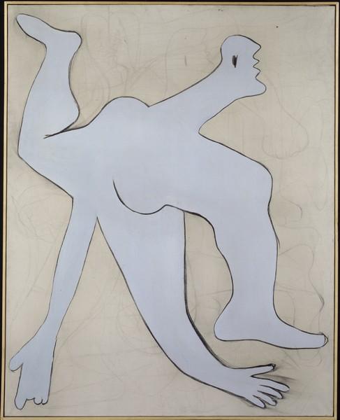 Danser sa vie - Art et danse de 1900 à nos jours : Pablo Ruiz Picasso   L'Acrobate bleu, 1929 Fusain et huile sur toile - 162 x 130 cm Collection Centre Pompidou, Musée national d'art moderne  (en dépôt au Musée Picasso, Paris) © Sucession Picasso