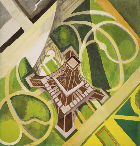 Vues d'en haut : Robert Delaunay, Tour Eiffel et Jardin du Champs de Mars, 1922