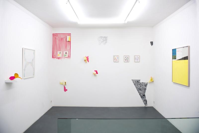Dessins et petits formats : vue de l'exposition © Galerie Djeziri-Bonn