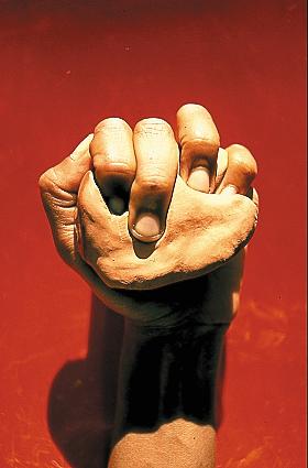 Image et Mystère. Myriam Mihindou : Myriam Mihindou. Division plastique 5. Tirage cybachrome, 3,5 x 2,4 cm, Ile de la Reunion, 1999/2000. © Collection Claudine et Jean-Marc Salomon