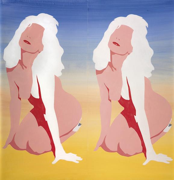 Antony Donaldson :  Study for Summershot, 1964, acrylique sur papier, 114 x 110 cm, Collection privée, Paris
