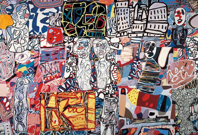 Jean Dubuffet. Métamorphose du paysage : Mêle moments, 1976, Acryle sur papier entoilé, Private Collection, Courtesy Pace Gallery, © 2015, ProLitteris, Zurich