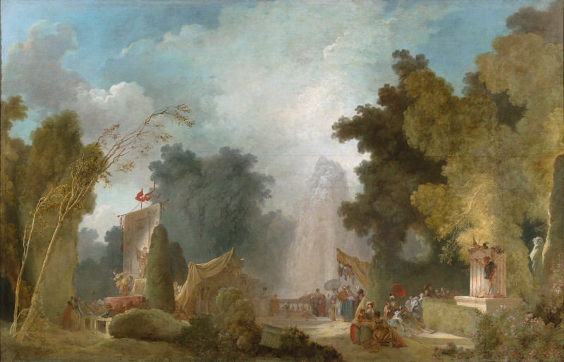Jardins : Jean-Honoré Fragonard La Fête à Saint-Cloud vers 1775-1780 huile sur toile ; 216 x 335 cm France, Paris collection de la Banque de France © collection de la Banque de France / Photo Françoise Doury