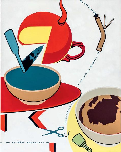 Hervé Télémaque : Hervé Télémaque Coupe, n° 1 , 1972, Acrylique sur toile, 146 x 114 cm Collection particulière, courtesy galerie Louis Carré & Cie