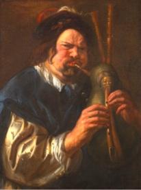Frans Hals – Sous le regard de Rembrandt, Rubens et Titien : Jacob Jordaens – Joueur de cornemuse, 1640/45, Rubenshuis, Anvers