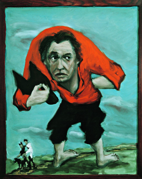 Gérard Garouste. En chemin : Gérard Garouste Le Masque de chien, 2002, huile sur toile, 92 x 73 cm, FNAC 03-057. Centre national des arts plastiques, Paris. © CNAP / Photo André Morin © Adagp Paris 2015.