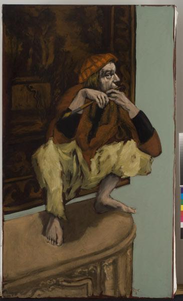 Gérard Garouste. En chemin : Gérard Garouste, Le Joueur de Flûte, 2007, huile sur toile, 195 x 114 cm. © Courtesy Galerie Daniel Templon, Paris. Photo Bertrand Huet/Tutti. © Adagp Paris 2015.