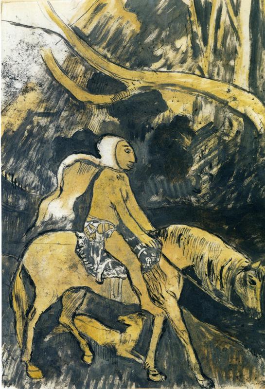 Ailleurs : Paul Gauguin La Fuite Vers 1901 Courtesy : collection privée, Malingue S. A. © Paul Gauguin