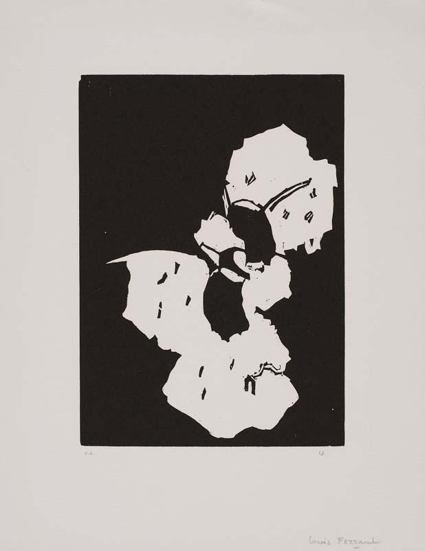 Gravure contemporaine à château Gaillard : Louis Ferrand (1905-1992), Sans titre, bois gravé collection musée de Vannes, cliché Musée de Vannes