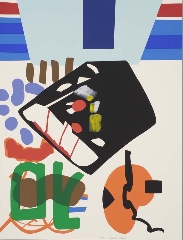 Gravure contemporaine à château Gaillard : Shirley Jaffe, Sans titre, sérigraphie collection musée de Vannes, cliché Musée de Vannes