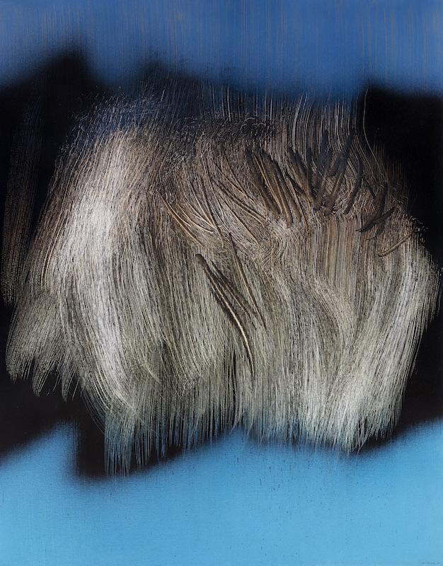 Hans Hartung, La fabrique du geste : Hans Hartung, T1962-U8, 1962, Peinture vinylique sur toile, 180 x 142 cm, Fondation Hartung-Bergman, Antibes © ADAGP, Paris, 2019 Photo : Fondation Hartung-Bergman