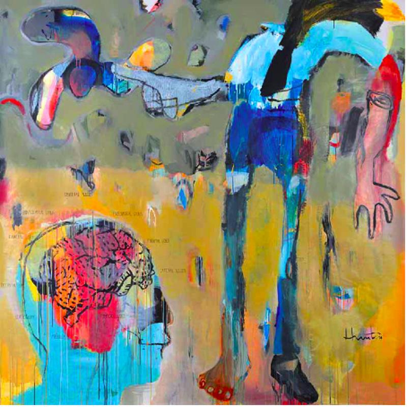 Jeunes plasticiens de Guadeloupe : Jean-Marc Hunt, Oeuvre 3, 200 cm x 200 cm
