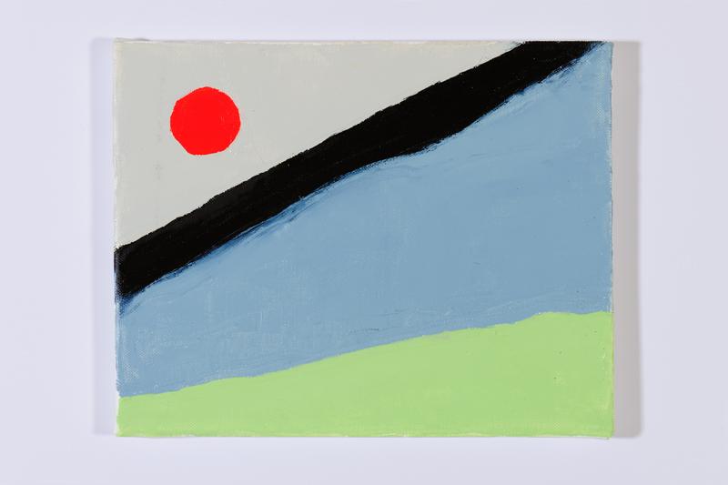 Etel Adnan : oil on canvas, 24x30cm, © DR