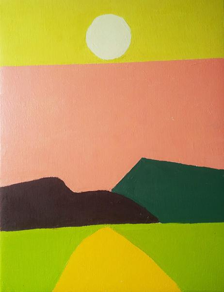 Etel Adnan : oil on canvas_32x41cm © DR