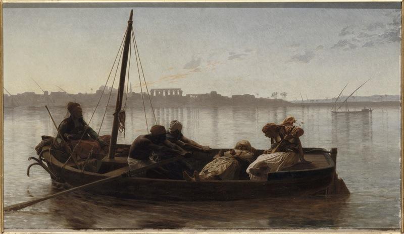 Jean-Léon Gérôme, l'Histoire en spectacle : Le prisonnier, 1861  Huile sur bois, 45 x 78 cm  Nantes, Musée des Beaux-Arts  © RMN / Gérard Blot