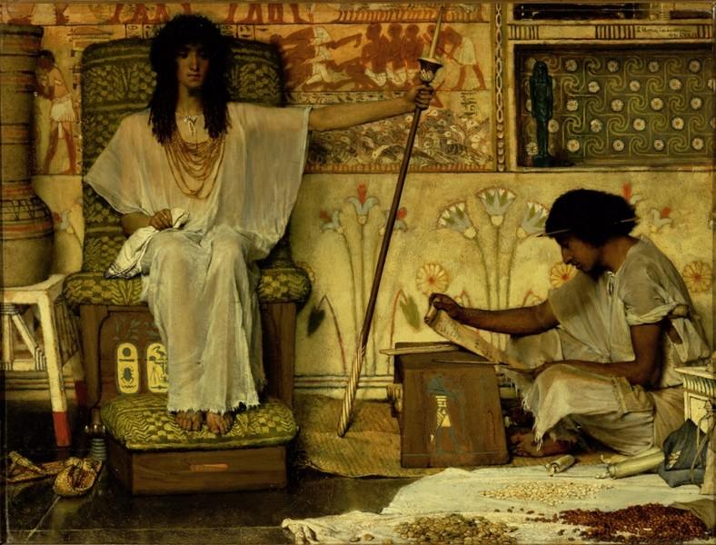 Les Juifs dans l'Orientalisme : Lawrence Alma-Tadema, Joseph gardien des greniers de Pharaon  1874  New York, Dahesh Museum of Art