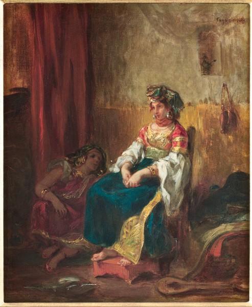 Les Juifs dans l'Orientalisme :  Eugène Delacroix, Mariée juive au Maroc  1852 [?]  Collection Ethel LeFrak et la famille LeFrak  © Adam Reich / Collection Ethel LeFrak et famille LeFrak