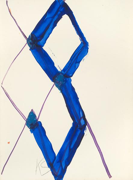 Kimber Smith. Oeuvres sur papier, 1957-1975 : KS NYC 1970, 1970 Acrylique et marqueur sur papier 66 x 48 cm © Alberto Ricci, Courtesy Galerie Jean Fournier, Paris
