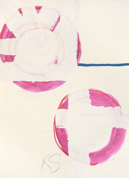 Kimber Smith. Oeuvres sur papier, 1957-1975 : Dayton (125), 1972 Acrylique et marqueur sur papier 65 x 48 cm © Alberto Ricci, Courtesy Galerie Jean Fournier, Paris