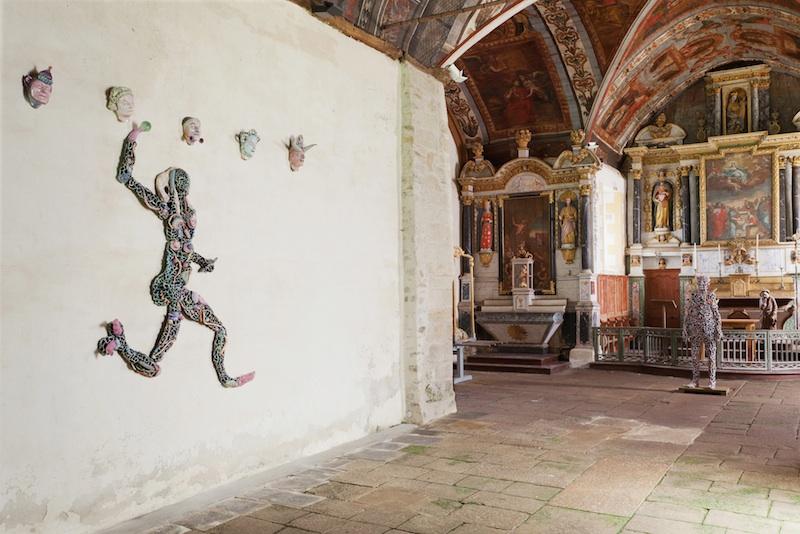 L'art dans les chapelles – 20e édition : Michel Gouery, Chapelle Sainte-Noyale, Noyal-Pontivy. Photo Stephane Cuisset