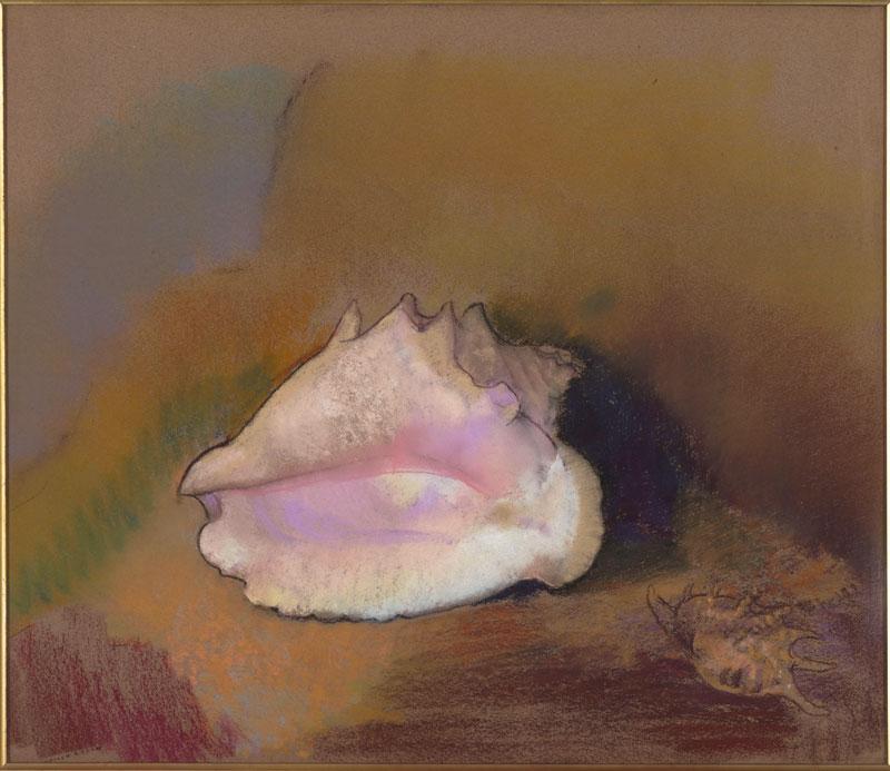 Odilon Redon - Prince du Rêve - 1840-1916 : La coquille. 1912, Pastel sur papier, 51 x 57.8 cm. Musee d'Orsay, Paris