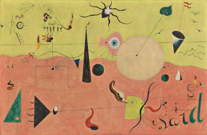 Joan Miró – The Ladder of Escape : Paysage catalan (Le Chasseur), 1923-4, Museum of Modern Art, New York