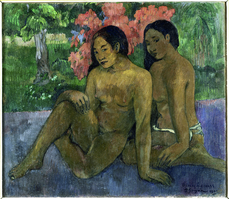 Mata Hoata. Arts et société aux îles Marquises : Paul Gauguin. Et l'or de leur corps. 1901, huile sur toile. 67 x 76,5 cm.  Musée d'Orsay, Paris.