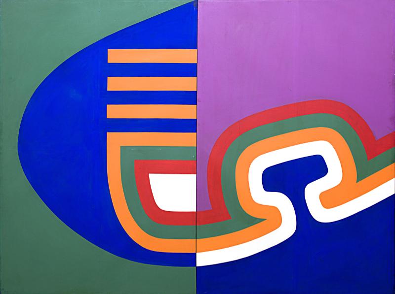 6e Biennale de Marrakech - Quoi de neuf là ? : Mohammed Chabâa Sans titre 1967 Acrylique sur canvas 152 x 202 cm (each) Collection de la Société Générale Maroc