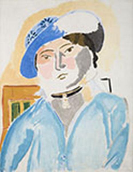 Henri Matisse. Rhythm & Meaning : Marguerite au chapeau de cuir. (Marguerite in a Leather Hat), 1914. Oil on Canvas, 82 X 65 cm. Musée Départemental Matisse. Le Cateau-Cambrésis. © Succession H. Matisse 2016