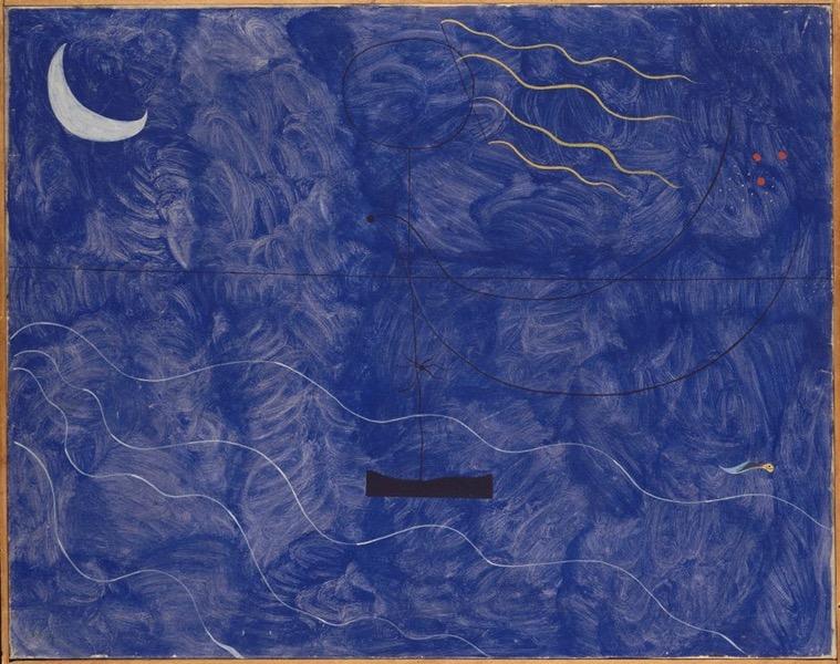 Leiris & Co. Picasso, Masson, Miró, Giacometti, Lam, Bacon… : Joan Miro. Baigneuse. 1924, Centre Pompidou. Musée national d'art moderne, Paris. © Successió Miró / ADAGP, Paris 2014. © Centre Pompidou, MNAM-CCI, Dist. RMN-Grand Palais / Jean-François Tomasian