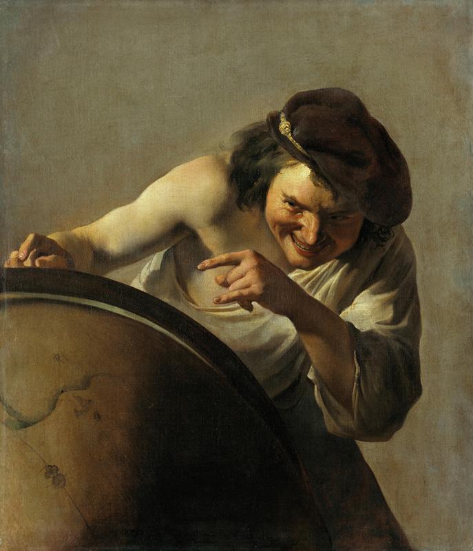 Vélasquez, Ribera, Giordano – Portraits de la pensée : Johan Moreelse, Le philosophe rieur © Mauritshuis, La Haye