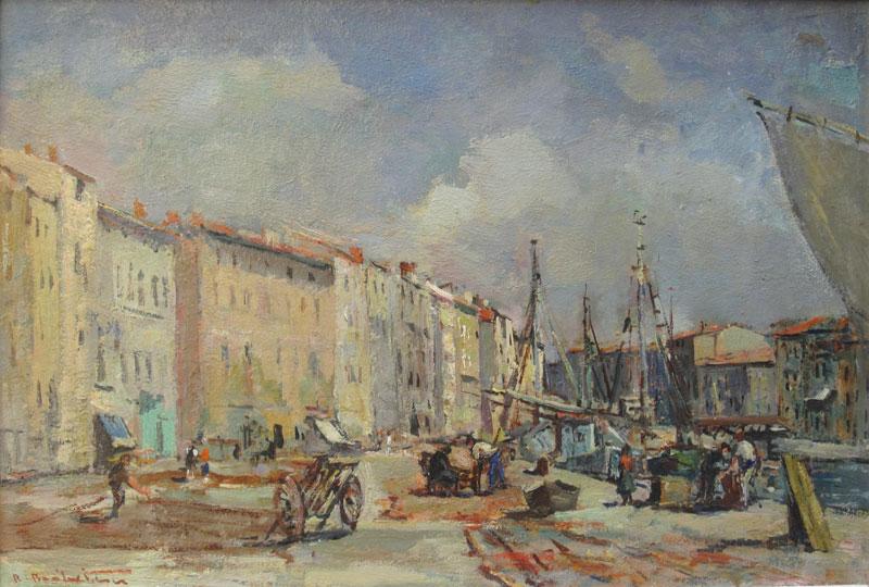 Art de Haute Alsace. L'après-guerre : Le port des pêcheurs à Sète  © Breitwieser Robert