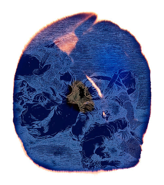 Najia Mehadji. Flower Power : Najia Mehadji : War Flower, 2007 Epreuve numérique pigmentaire, 117 x 105 cm
