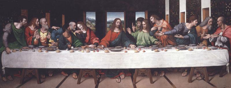 Leonardo da Vinci: Painter at the Court of Milan : Giampietrino (active about 1500–1550), after Leonardo da Vinci (1452–1519) The Last Supper, about 1515 Oil on canvas, 302 x 785 cm © Royal Academy of Arts, London