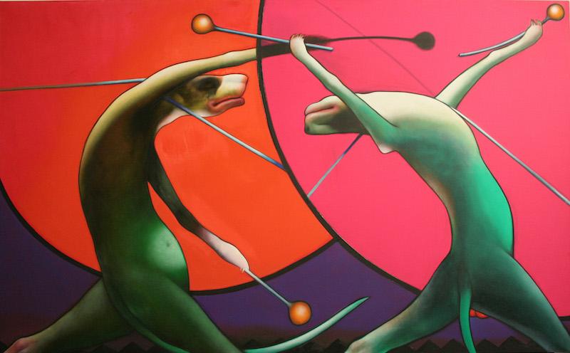 Art lituanien contemporain. : Vidmantas Jusionis, Drummers, 2009 © Jusionis
