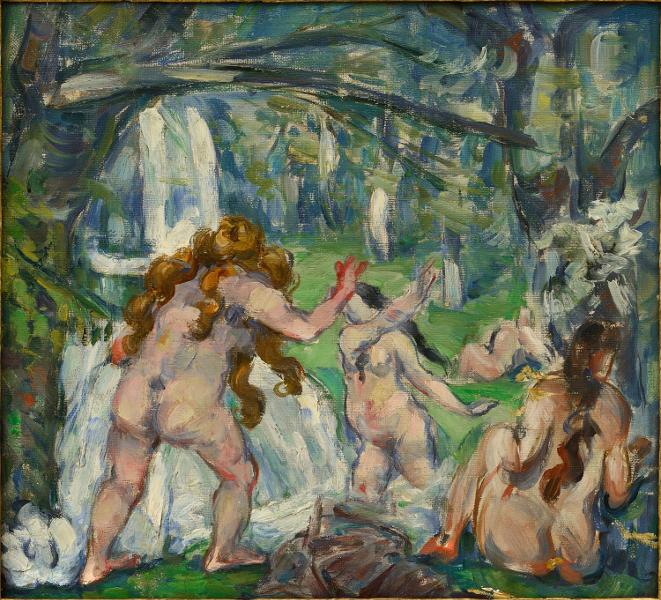 Rubens et son héritage : Paul Cézanne (1839 - 1906) Trois baigneuses. 1875, Huile sur toile © Collection particulière Photo: Ali Elai, Camerarts