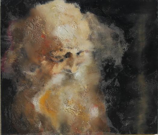 L'Art au défi de l'espérance : Philippe Cognée. Le vieil homme. 2012, 95 x 110 cm.   © Philippe Cognée