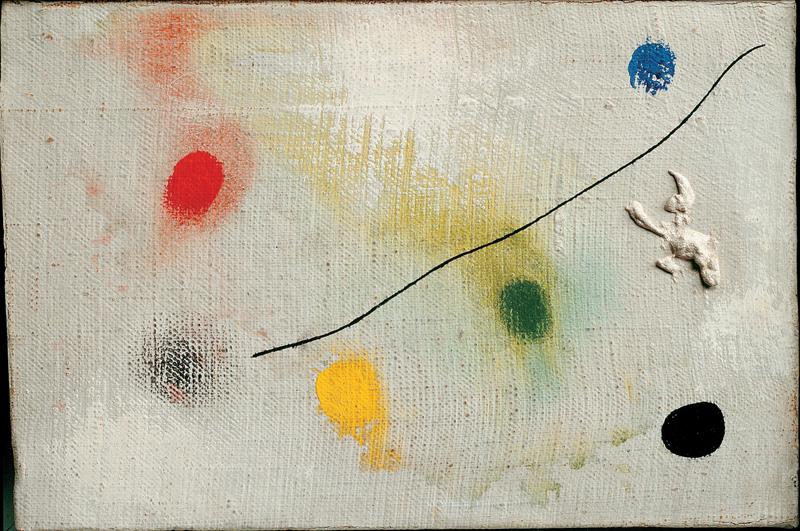 Joan Miró, peintre poète : Joan Miró, Pintura I, 1965, Huile sur toile. © Successió Miró 2011/SABAM Belgium 2011