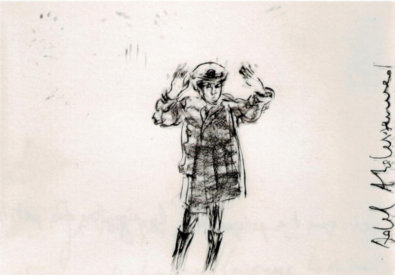 Retour sur l'abîme. L'art à l'épreuve du génocide : Adel Abdessemed, Mon enfant, 2014, pierre noire sur papier, 130 x 187 cm