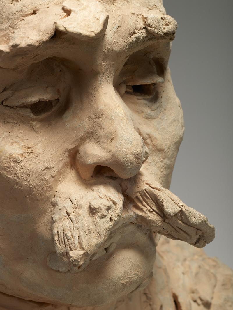 Clémenceau et les artistes modernes, Manet, Monet, Rodin : Auguste Rodin - Buste de Georges Clemenceau - 1911, terre cuite © Paris, musée Rodin - photo Christian Baraja