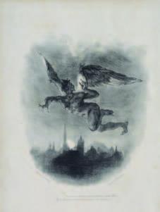 L'Ange du bizarre – le romantisme noir, de Goya à Max Ernst : Eugène Delacroix (1798-1863) Méphisto dans les airs, ill. pour Faust, 1828 Lithographie, 28 x 24 cm Francfort, Städel Museum © Droits réservés