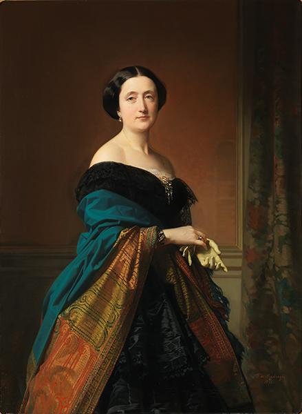 Le Portrait espagnol dans les collections du Prado. : Federico de Madrazo y Kuntz - Saturnina Canaleta de Girona (1856) Huile sur toile, 123 x 90 cm. Musée National du Prado, Madrid